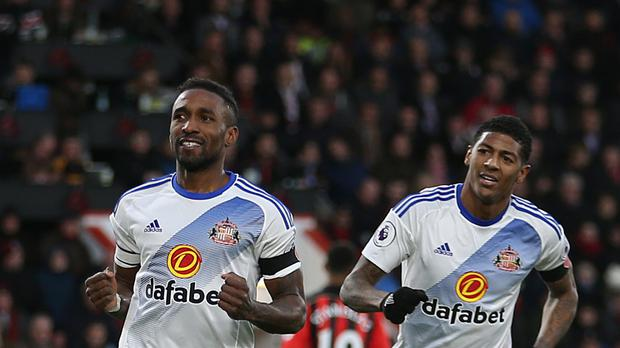 Jermain Defoe, left, scored his sixth goal of the season last time out