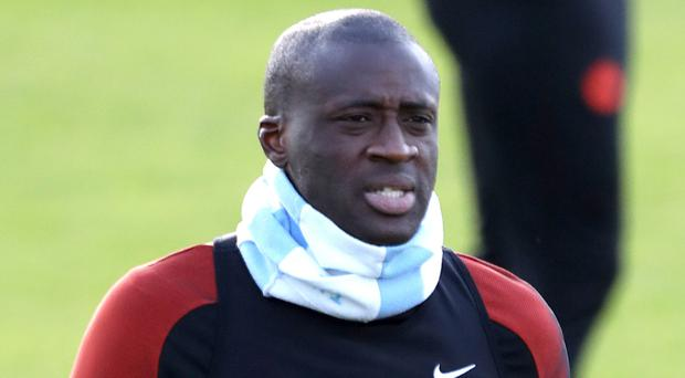 Manchester City's Yaya Toure is back in the starting line-up.