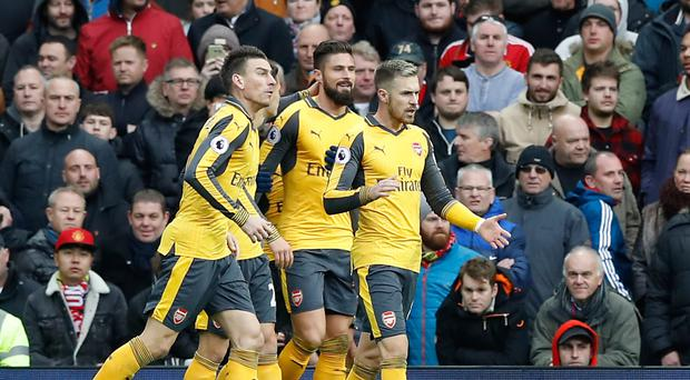 Olivier Giroud's late equaliser earned Arsenal a draw at Manchester United