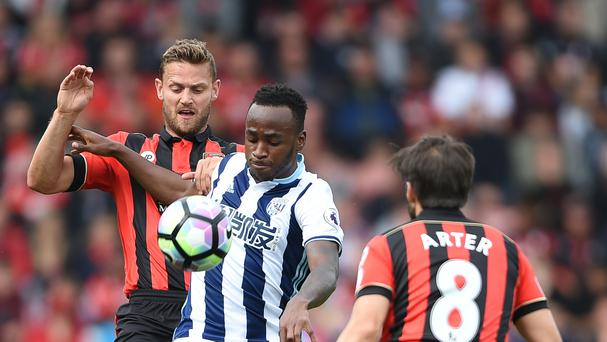 Saido Berahino's last appearance for West Brom came against Bournemouth in September