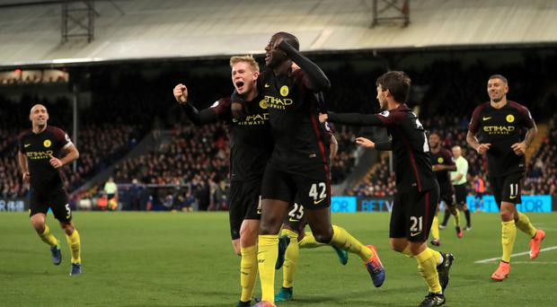 Yaya Toure scored each of Manchester City's goals in their 2-1 win at Crystal Palace