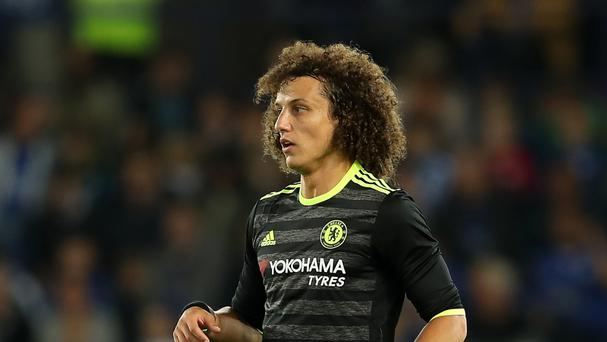 David Luiz helped Chelsea climb to the top of the Premier League table