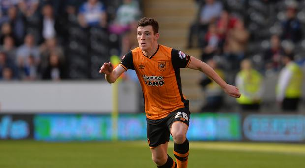 Hull City's Andy Robertson is close to a comeback after calf trouble