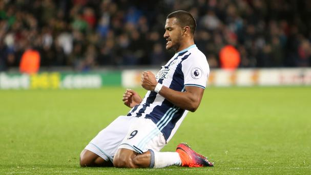 Salomon Rondon, superb on Monday night, celebrates his goal