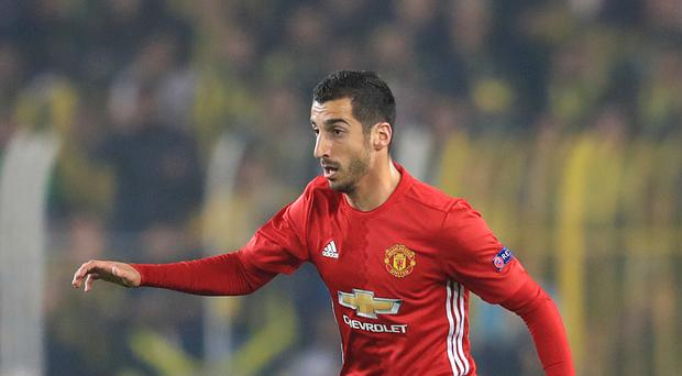 Manchester United's Henrikh Mkhitaryan is set to feature against Feyenoord