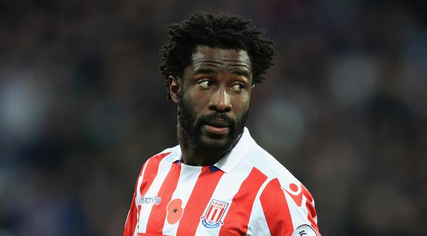 Wilfried Bony is on loan at Stoke for the remainder of the campaign
