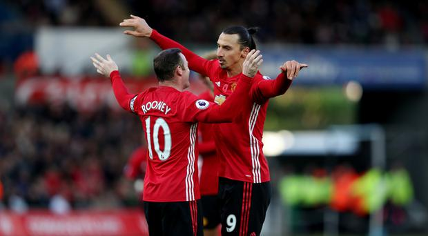 Manchester United's Zlatan Ibrahimovic says Wayne Rooney is the