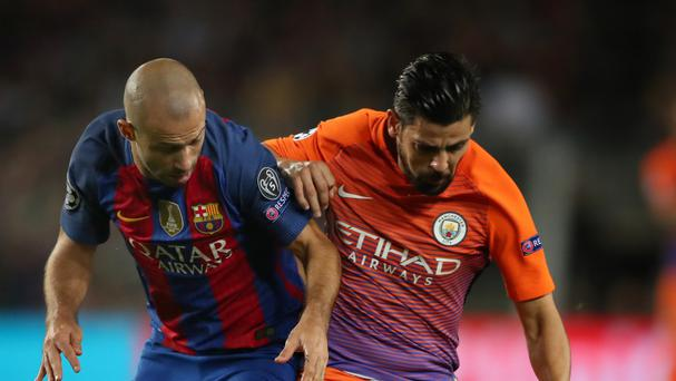 Nolito (right) hopes to reach the Champions League final with Manchester City