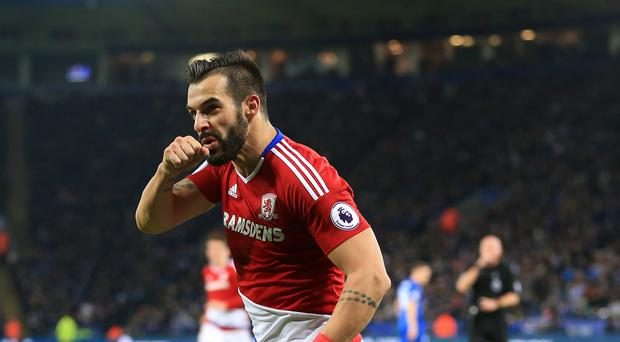Alvaro Negredo's brace almost gave Middlesbrough victory before they had to settle for a 2-2 draw at Leicester