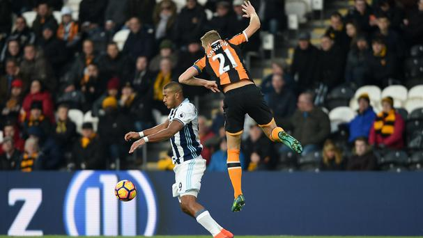 Salomon Rondon missed one of a number of late chances for West Bromwich Albion who had to settle for a draw at Hull