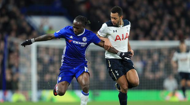 Chelsea's Victor Moses (left) scored the winner to cap an impressive display