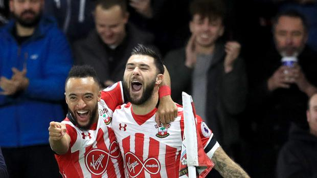 Southampton's Charlie Austin, pictured right, scored the only goal of the game