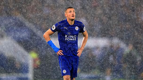 Leicester's Jamie Vardy has struggled to recreate his form from last season's title-winning campaign.