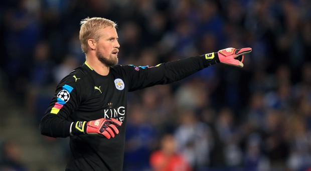 Leicester goalkeeper Kasper Schmeichel has been sidelined since breaking his hand last month