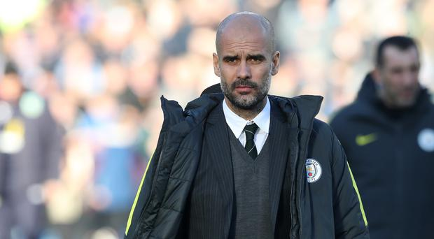 Manchester City and manager Pep Guardiola (pictured) face Antonio Conte's Chelsea on Saturday