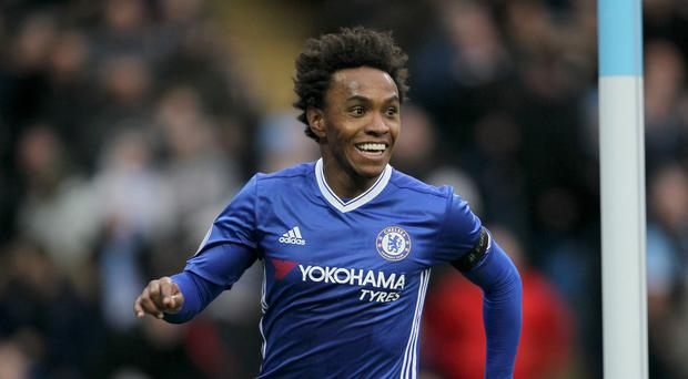 Willian was on target for Chelsea after coming off the bench