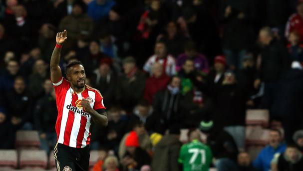 Jermain Defoe netted Sunderland's winner against Leicester