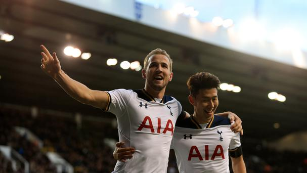 Two goals from Harry Kane, left, helped Tottenham put a disappointing November behind them