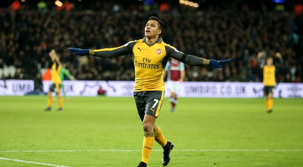 Alexis Sanchez scored a hat-trick for Arsenal