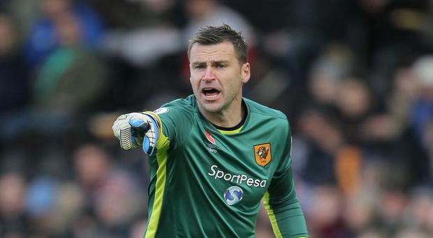 David Marshall, pictured, faces stiff competition from Eldin Jakupovic at Hull