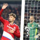 Gaston Ramirez celebrates heading Middlesbrough's winner