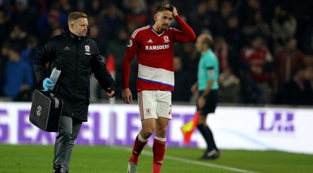 Middlesbrough's Gaston Ramirez is one of three injury doubts for Sunday's game against Southampton
