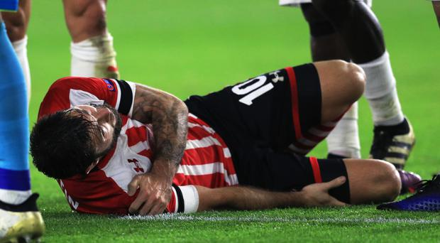 Southampton's Charlie Austin is set for a spell on the sidelines