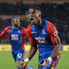 Crystal Palace's Wilfried Zaha celebrates