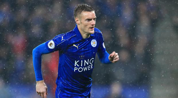 Leicester frontman Jamie Vardy showed champion class