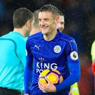 Jamie Vardy took home the match ball