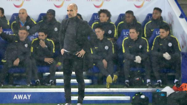 Pep Guardiola saw his side taken apart by Leicester