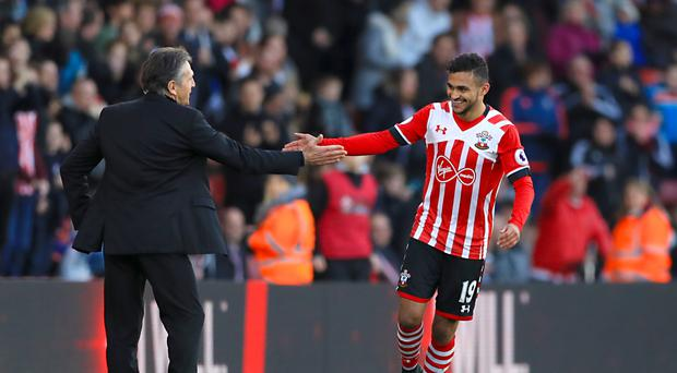 Sofiane Boufal celebrates scoring the only goal of the game