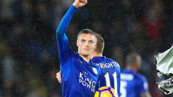 Jamie Vardy rediscovered his scoring touch on Saturday