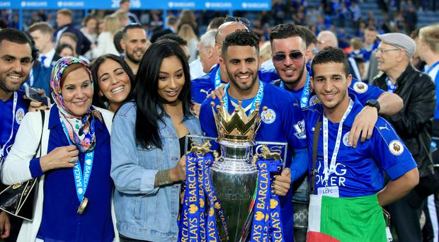 Riyad Mahrez was player of the year as Leicester won their first league title