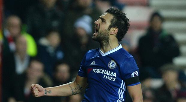 Cesc Fabregas scored the only goal of the game