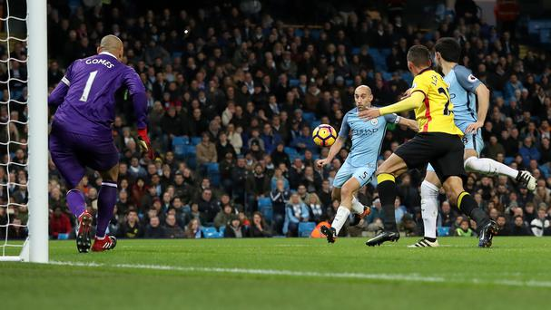 Pablo Zabaleta, left, ended his goal drought