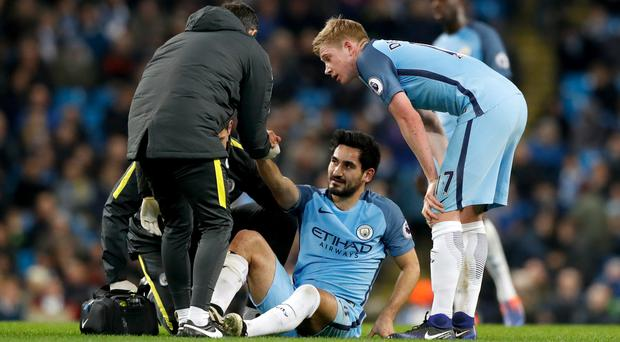 Ilkay Gundogan looks set for a lengthy spell on the sidelines