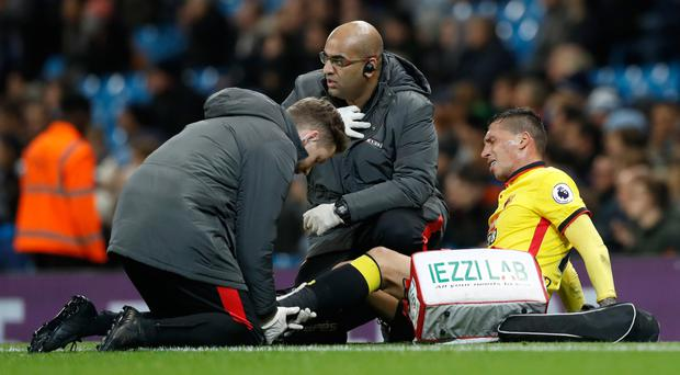 Roberto Pereyra injured himself against Manchester City on Wednesday night