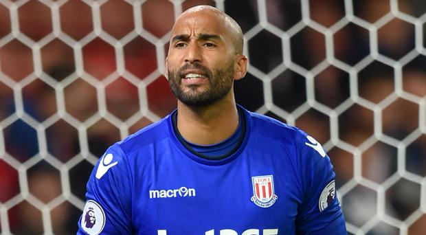 Lee Grant has made 12 appearances for Stoke after joining on loan from Derby in August.