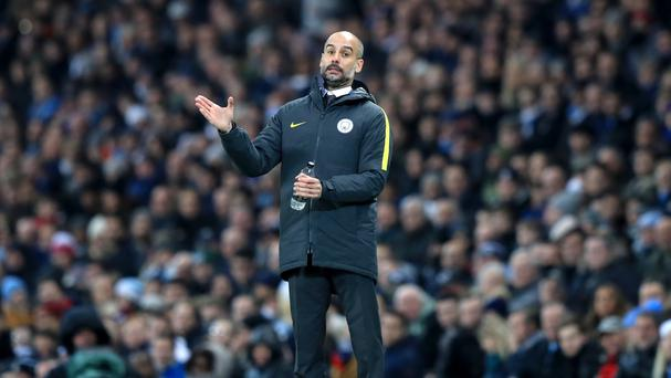 Manchester City manager Pep Guardiola saw his side produce a much-improved display in the second half