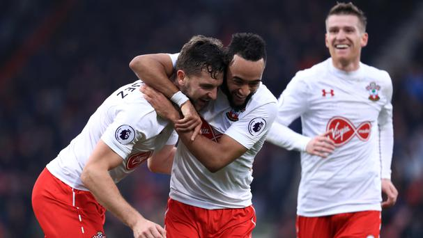 Jay Rodriguez, left, bagged a brace to inspire Southampton to victory over south coast rivals Bournemouth