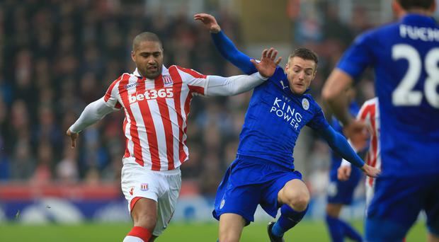Jamie Vardy, right, has lost his appeal against his red card