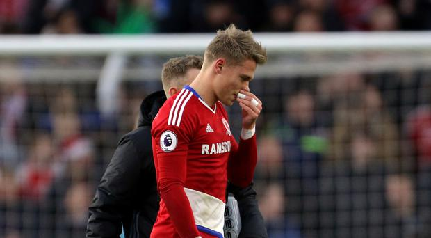 Viktor Fischer will miss Middlesbrough's holiday fixtures through injury