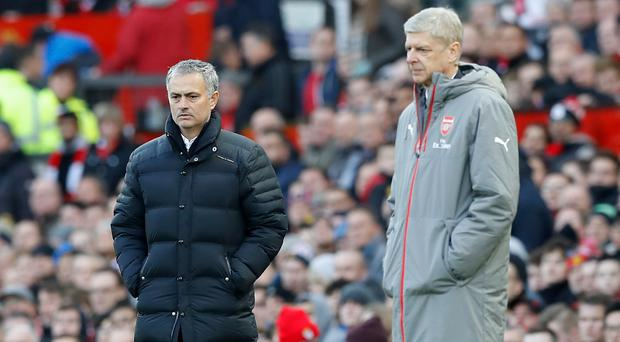Both Jose Mourinho, left, and Arsene Wenger have questioned the Premier League's Christmas schedule
