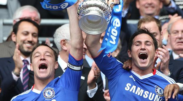 Frank Lampard, right, hopes to be reunited with John Terry, left, at Chelsea