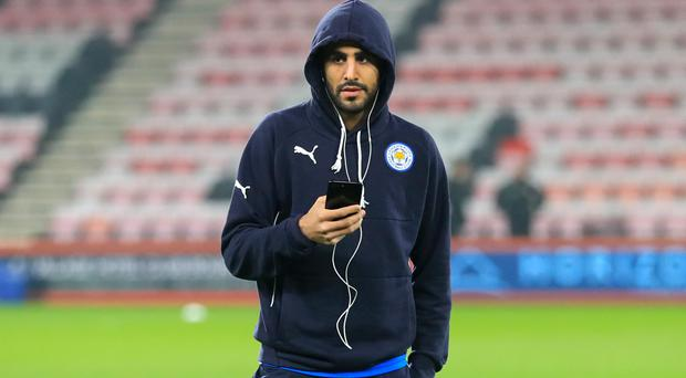 Riyad Mahrez was dropped from the starting XI before Leicester lost to Everton