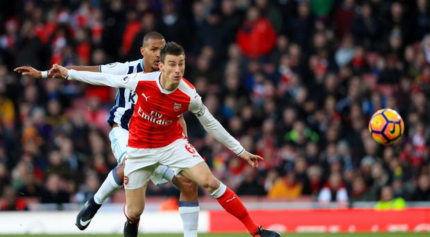 Laurent Koscielny captained Arsenal to Boxing Day victory against West Brom
