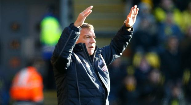 Sam Allardyce, pictured, succeeded Alan Pardew as Crystal Palace's manager