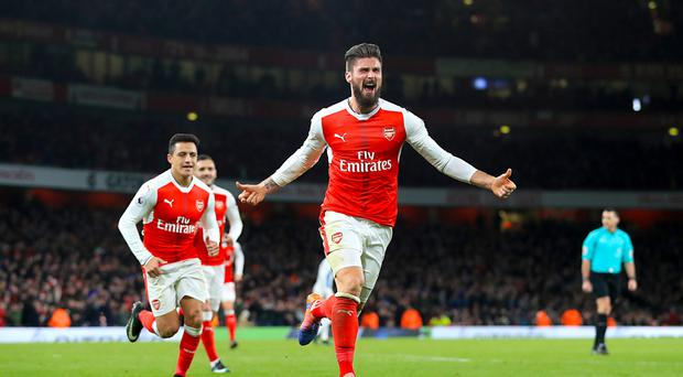 Olivier Giroud, pictured right, scored the only goal as Arsenal beat West Brom on Boxing Day