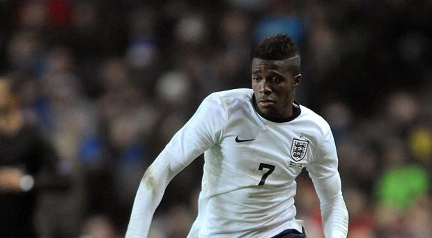Wilfried Zaha has played in two friendlies for England